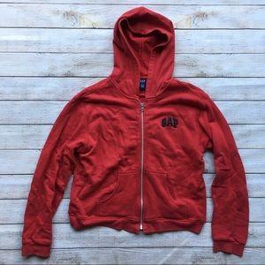 Gap Zip Up Hooded Sweatshirt